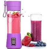 MHGAO Caricabatteria elettrica Mini Juicer USB Safety Juicer Cup, miscelatore di succo di frutta, Coppa di ricambio multifunzionale ricaricabile di tazza di succo di frutta, purple
