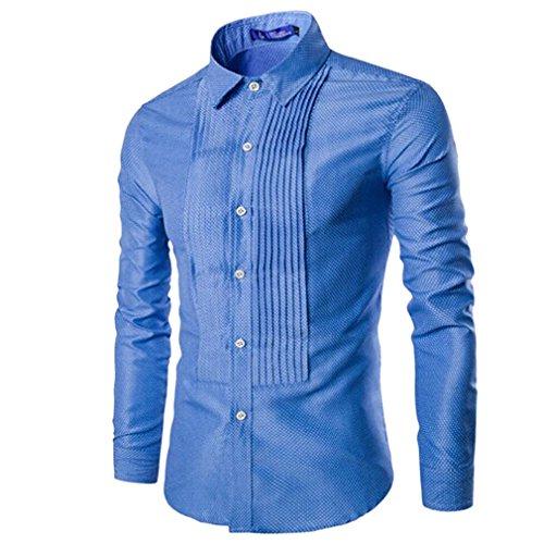 honghu-moda-hombre-de-manga-larga-casual-slim-fit-negocios-con-estilo-camisas-el-cielo-azul-xl