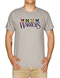 Vendax Warrior Cats Logo Camiseta Hombre Gris
