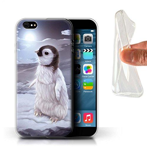 Officiel Elena Dudina Coque / Etui Gel TPU pour Apple iPhone 6S+/Plus / Trois dans la Nuit Design / Les Animaux Collection Le Voyageur/Manchot