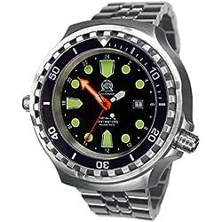 52mm Montre de plongée automatique-24h affichage de verre saphir-Bracelet en Acier Inoxydable t0309m