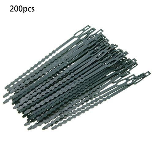 Rbiouseix 200 Stück verstellbare Gartenpflanze Twist Krawatten, 6,7 Zoll Flexible Kunststoff Twist Krawatten Multi-Use für sichere Rebe (grün)