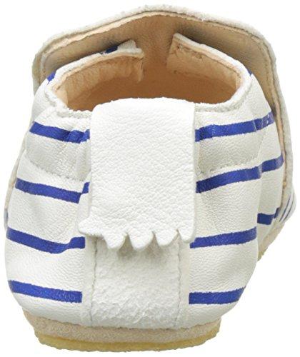 Easy Peasy Unisex Baby Blublu Marin Krabbel-& Hausschuhe Weiß (blanc/encre)