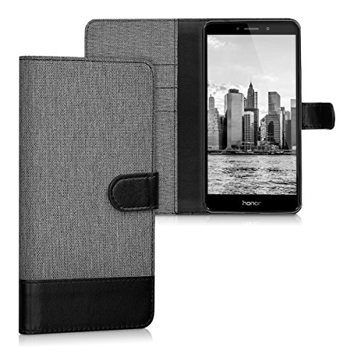 kwmobile Huawei Honor 6X / GR5 2017 / Mate 9 Lite Hülle - Kunstleder Wallet Case für Huawei Honor 6X / GR5 2017 / Mate 9 Lite mit Kartenfächern & Stand