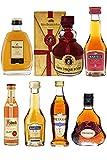 Weinbrand und Cognac Probierset mit jew. 1 x Metaxa 7-Sterne 5cl, Hennessy XO 5cl, Asbach Weinbrand 4cl, Martell VSOP 5cl, Martell VS 5cl, Hennessy Fine 5cl, Gran Duque de Alba Solera 5cl