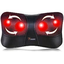 VIKTOR JURGEN Shiatsu Massagegerät für Nacken Rücken Taille Massage zu Hause im Auto 3D-Rotation + Infrarotheizung + Geeignet für Multi-Voltage-Nutzung + 3 Jahre Garantie