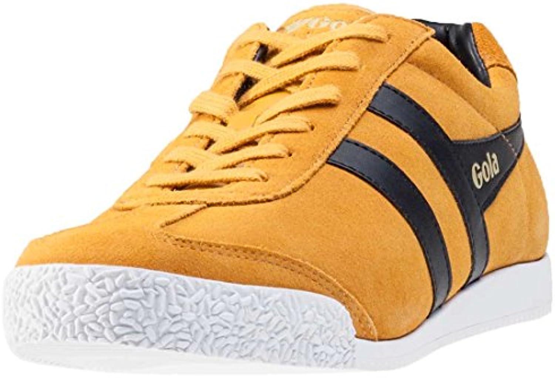 Gola Männer Schuhe Harrier Suede Retro Sneaker gelb schwarz   fallen normal aus