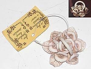 Idea bomboniere: Set 6 pezzi cestino di rose in porcellana ideali per bomboniere e composizioni. Misure cm 4
