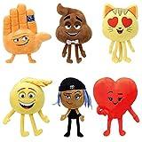 TY Beanie Babies - Emoji Movie Plush Soft Toys - (Complete set of 6)