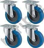 Tente pesanti girevole con ruote/Rotelle, 10,2cm, Blu, per FLIGHTCASE