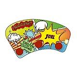 Wand-Garderobe mit Namen Joel und schönem Comic-Motiv für Jungs - Garderobe für Kinder - Wandgarderobe