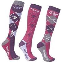 Toggi Ladies Socks Chestermere 3 Pack - deep pink
