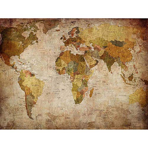 a37ec5d390b Wee Blue Coo Map Globe World Atlas Antique Style Modern Layout Art Print  Poster Wall Decor