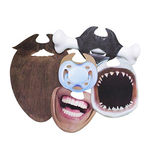 (Paladone Mund Masken, Hartplatte/Papier, Mehrfarbig, 1x 16x 21cm)