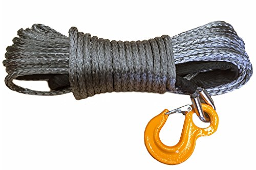 Raw Rope Kunststoffseil Seilwinde 10,5 t 10 mm 30m Set schwarz