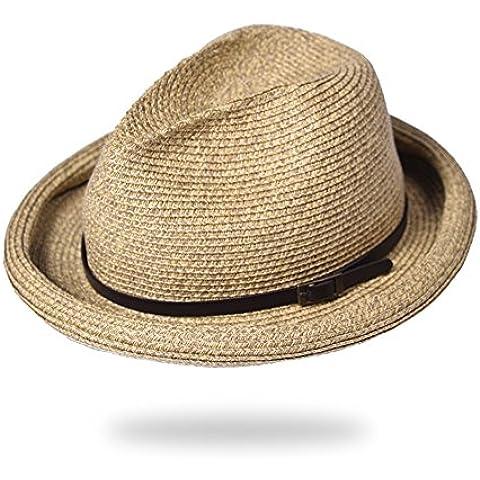 Visiera di uomini e donne/Tappi casual cinture/Volume cappello paglia/Cappelli vintage/Cappello a cilindro/Cappelli di jazz