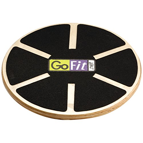 GoFit Plastic Round Wobble Balance Board - Black, 16 x 4 x 15.5-Inch by...