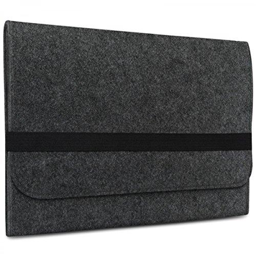 eFabrik Sleeve für Acer Switch Alpha 12 Schutz Filz Hülle Tasche, Farbe:Dunkelgrau