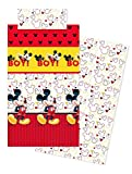 Disney Set sabanas Mickey Boy Rouge Lit 105 cm
