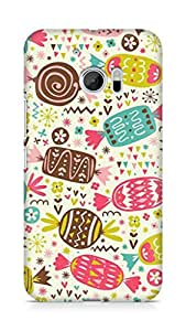 Amez designer printed 3d premium high quality back case cover for Htc One M10 (Chocolate Pattern)