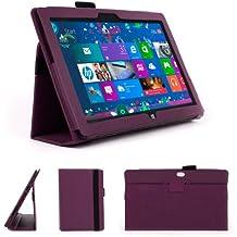 DURAGADGET Funda Morada De Cuero Sintético Con Soporte Integrado Diseñado Para El Microsoft Surface Tablet 10.6 Pulgadas (Con Windows RT 32GB, 64GB)
