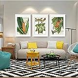 MoMo Wand-Landschaft - Dekorationen, Triple Green Plant weiße Grenze Sofa Background Wall dekorative Malerei,60 * 80