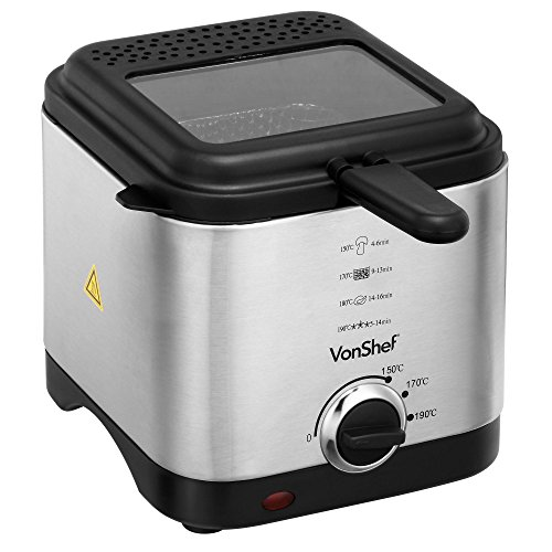 VonShef Compact 1.5L Stainless S...
