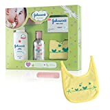 Johnson's Baby Care Collection Baby Gift Set with Organic Cotton Bib & Baby Comb (5 piece)