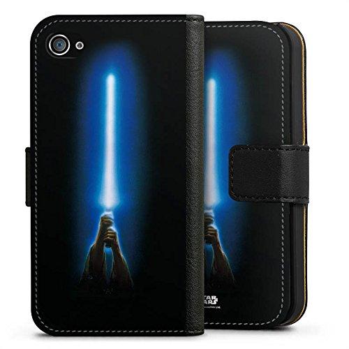 Apple iPhone 7 Hülle Case Handyhülle Star Wars Merchandise Fanartikel Jedi Lightsaber Sideflip Tasche schwarz