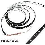 SODIAL(R) 120CM 60 SMD Tira de Luz LED Neon Flexible Impermeable para Coche - Azul