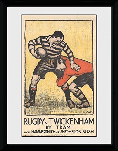GB Eye Ltd Transport for London, Rugby à Twickenham, encadrée, 30 x 40 cm, Bois, différents, 52 x 44 x 3 cm
