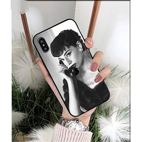 NJSdd Audrey Hepburn schwarz TPU weichen silikon Telefon case Abdeckung für iPhone 8 7 6 6s Plus 5 5s se xr xs max Coque Shell, a9, für iPhone xr