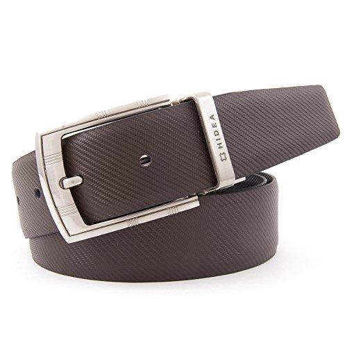 HIDEA Men's Formal 35mm Reversible Multicolor Genuine Leather Belt
