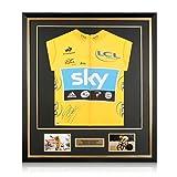 Exclusive Memorabilia Bradley Wiggins autografata Maglia Gialla Tour De France 2012. Incorniciato