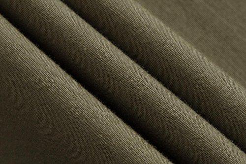 Sportrendy Herren Freizeit Hemden Slim Button Down Long Sleeves Dress Shirts Tops MFN2_JZS041 ArmyGreen