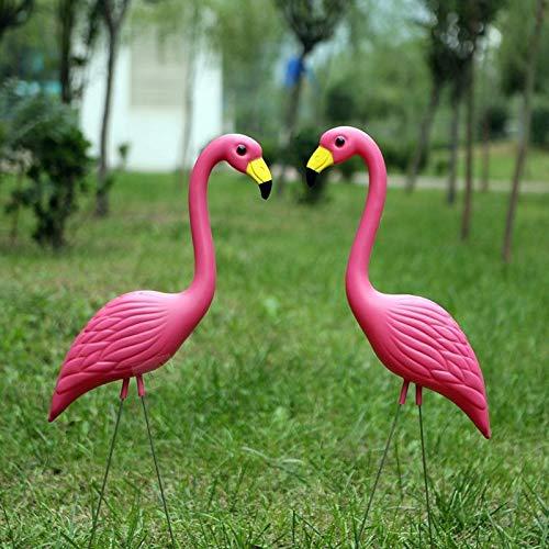 AntCompany Garten Art Hausgartenpartysimulation PE-Material rosa Flamingo-Rasendekoration, Größe: 56 cm x 24 cm, Praktisch