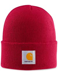Carhartt Acrylic Watch Cap - Independence Red Mens Winter Beanie Ski Hat CHA18INR
