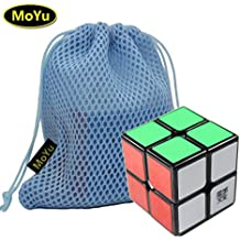 MoYu LingPo 2x2x2 Magic Speed Puzzle Cube Toy Black + a Cube Bag