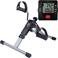 himaly Folding Mini Exercise Bike Portable Home Pedal Exerciser Gym Fitness Leg Arm Cardio Training Adjustable Resistance with LCD Display for Women and Men