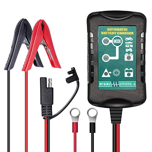ULTRAPOWER 1,5 A 6 V 12 V Batterieladegerät Automatischer Pflege-Schwimmer für Auto Motorrad Rasenmäher SLA ATV AGM Gel Cell Blei-Säure-Batterien 12v Ac Gel Cell Batteries