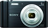 Sony DSC-W800 20.1 MP Point and Shoot Digital Camera with 5X Optical Zoom (Black)