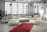 One Couture Teppich HANDGEFERTIGT Viskose MELIERT Baumwolle TEPPICHE VIOLETT, Größe:80cm x 150cm