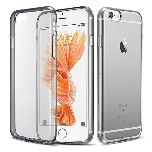 Case iPhone 6 Plus, ESR the Beat-Custodia protettiva antiurto, resistente ai graffi, perfetto []-Cover posteriore rigida trasparente con 13,97 (5,5) cm, motivo a pois, per iPhone 6 Plus (a pois), col 6P-Ultra Thin Jelly_ Black