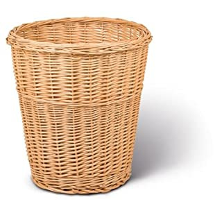 Adam Schmidt Wicker Waste Paper Basket Boiled Wicker Papiereimer, round, conical height: 450 mm; diameter: 410 mm