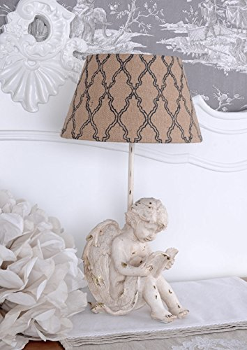 Vintage Lampe Engel Tischleuchte Amor Tischlampe Shabby Chic Palazzo Exclusiv