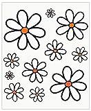 Adhésif Fleurs, 14 x 16 cm
