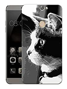 "Humor Gang Cat Monochrome Printed Designer Mobile Back Cover For ""Coolpad Max"" (3D, Matte Finish, Premium Quality, Protective Snap On Slim Hard Phone Case, Multi Color)"