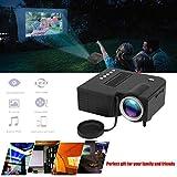 LIBWX Proyector doméstico UC28B + Mini proyector portátil en Miniatura 1080P HD Proyector Mini LED para Entretenimiento en Cine en casa,Negro