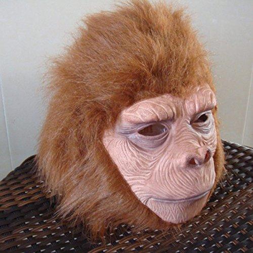 Affe Kopfbedeckung Cosas Rising Halloween Horror Maske Orang-Utan Pavianen Tiere Spielen Requisiten