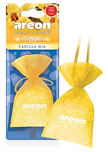 areon Perlen Auto Vanille Mia Aroma Lufterfrischer Qualität Parfüm Home Office Duft (Pack von 3) (Home-duft-aroma-perlen)